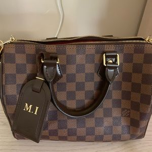 Checkered 25 bag with strap